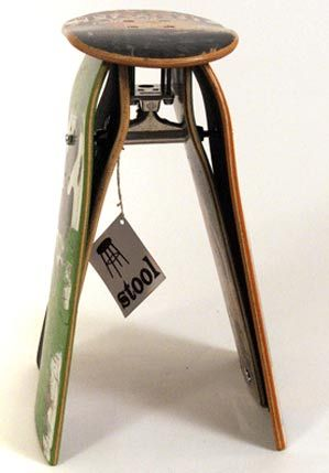 Skateboard Furniture - Skateboard Chair - Skateboard Clock - Skateboard Table