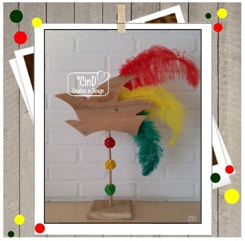 "Houten carnavalsdecoratie / Wooden deco carnaval ""Steek by CinD"" Homemade by CinD, wooden (& more) handmade wannahaves"