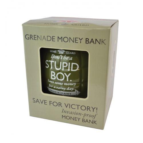 Dads army grenade stupid boy money bank