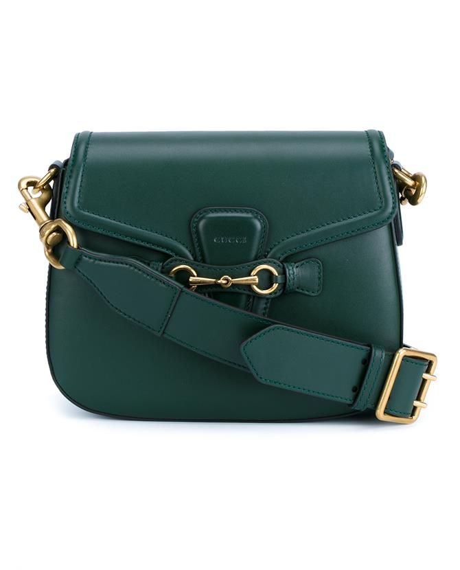 GUCCI Leather Lady Web Shoulder Bag