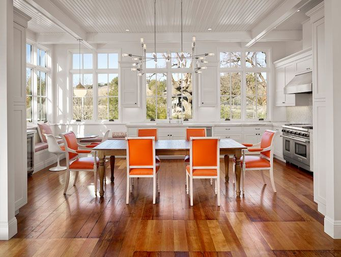 Colorful Kitchens   Orange Kitchen Chairs