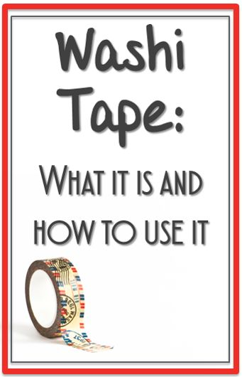 Feeling crafty learn how you can use washi tape in your for What can you do with washi tape