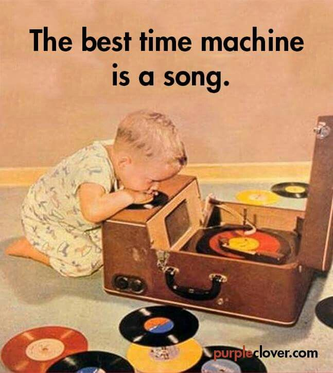 Record player = time machine                              …