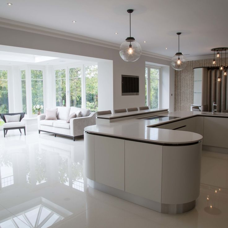 Home Office Einrichten Und Dekorieren 40 Anregende: Open Plan Kitchen Area In Orangery Extension