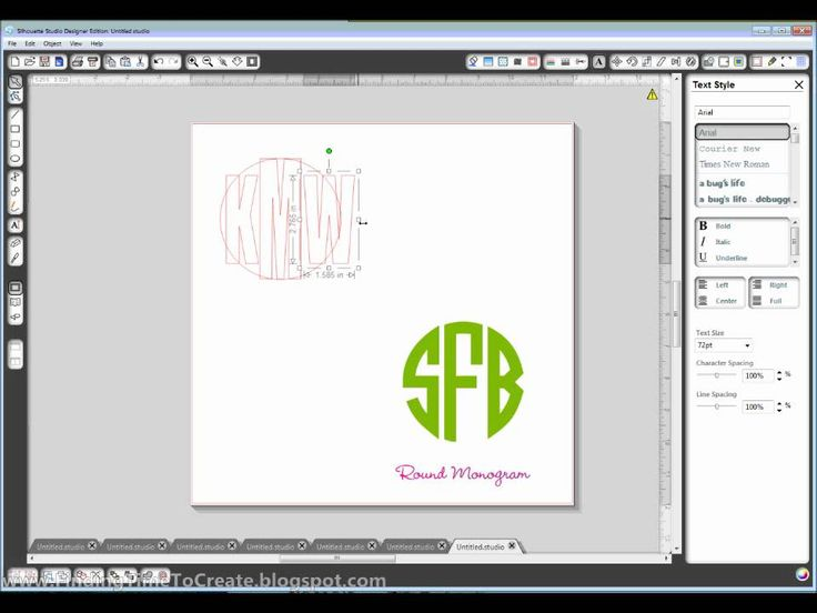 Video walk-through on how to create a circular monogram on Silhouette Studio software.