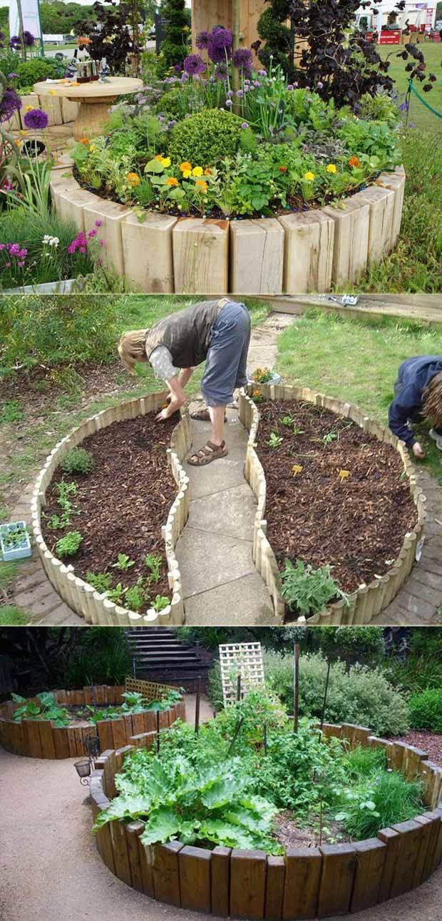Veggie Garden Without Digging Cool Round Garden Bed Ideas For Landscape Design Farmfoodfamily Com R Garden Beds Vegetable Garden Raised Beds Raised Garden