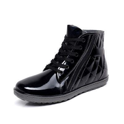 Charming Pvc Waterproof Rain Boots Waterproof Flat With Shoes Male Men Rain Water Rubber Ankle Boots Buckle Botas 25-27cm Foot