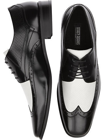 Stacy Adams Whitby Black and White Wingtip Shoes