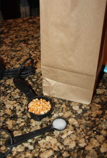 Homemade Microwavable Popcorn the easy way!  Plus a secret ingredient the movie theaters use to make the popcorn taste YUMMY!