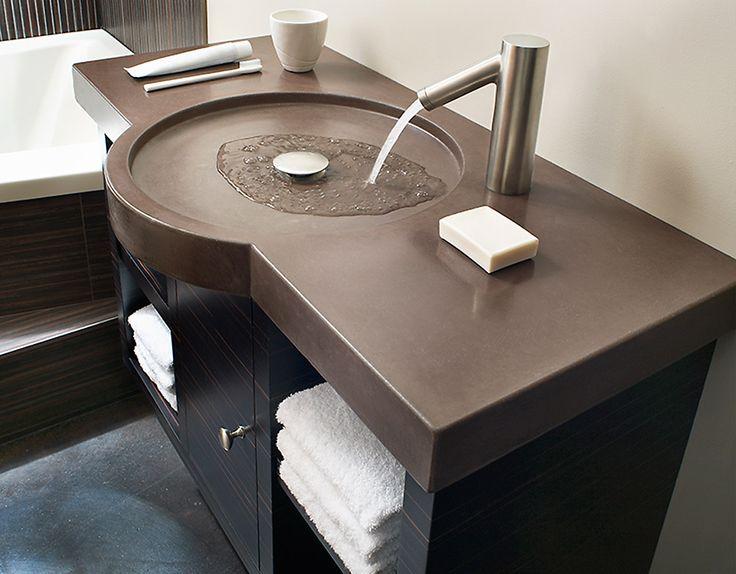 Best 25+ Concrete Countertops Bathroom Ideas On Pinterest