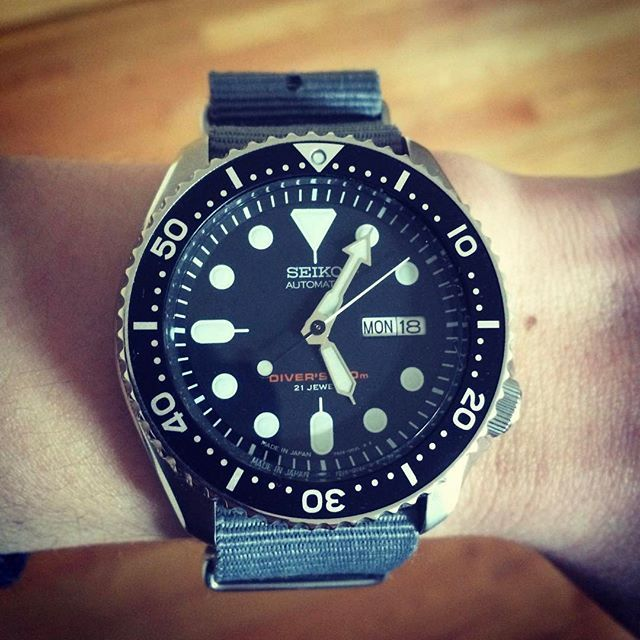 """REPOST!!!  """"This is Seiko Diver SKX007J1. Initially purchased the watch due to all the complements it was getting online for being a true diver's watch at an affordable price. I specifically wanted the Japan made version, so I searched everywhere and purchased it from a dealer in Singapore. Since then, the watch made to different countries in Asia, including Maldives, for my honeymoon. It was also tested to be a robust diver during my first dive in Maldives as well. To me, this Seiko diver…"""
