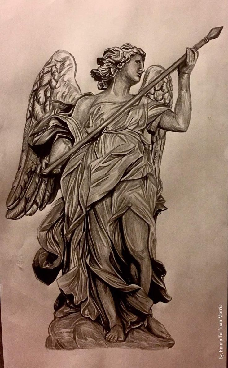 Some Awesome Angel Artwork Angeltattoo Angels Nyc Latin Portrait Drawing Photorealism Tattoo Losangeles Westcoast Statue Renaissance Italy