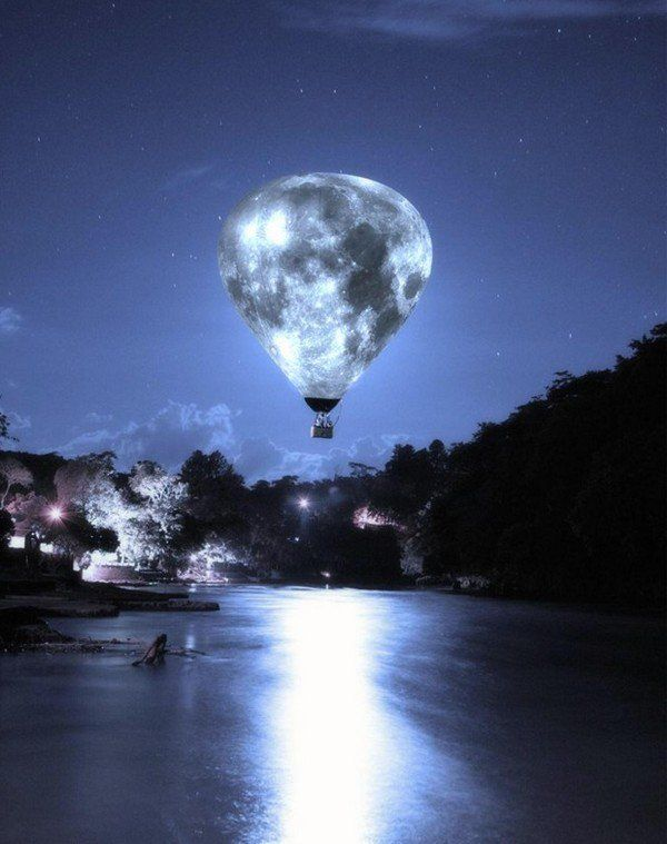 Image result for The moon is a balloon that fills the night which bursts with stars and constellations bright, reminding late night lovers of the dawn whose fingers shatter dreams with early light.