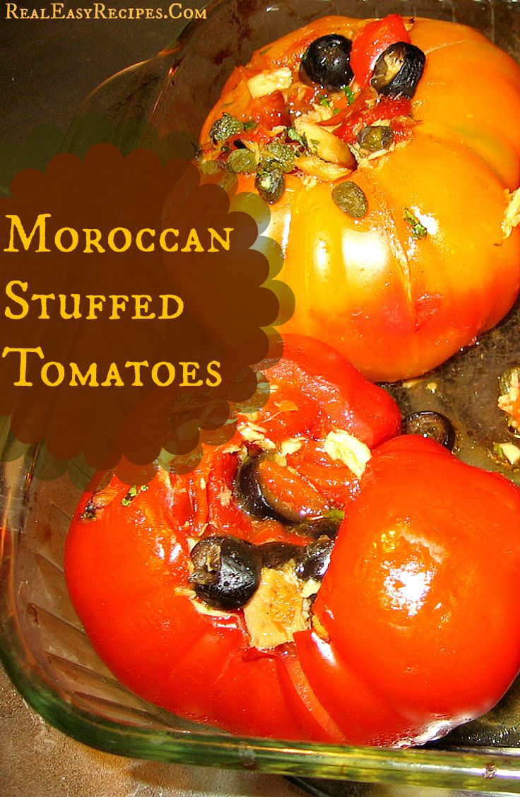 Moroccan Stuffed Tomatoes Diet recipes easy, Tomato