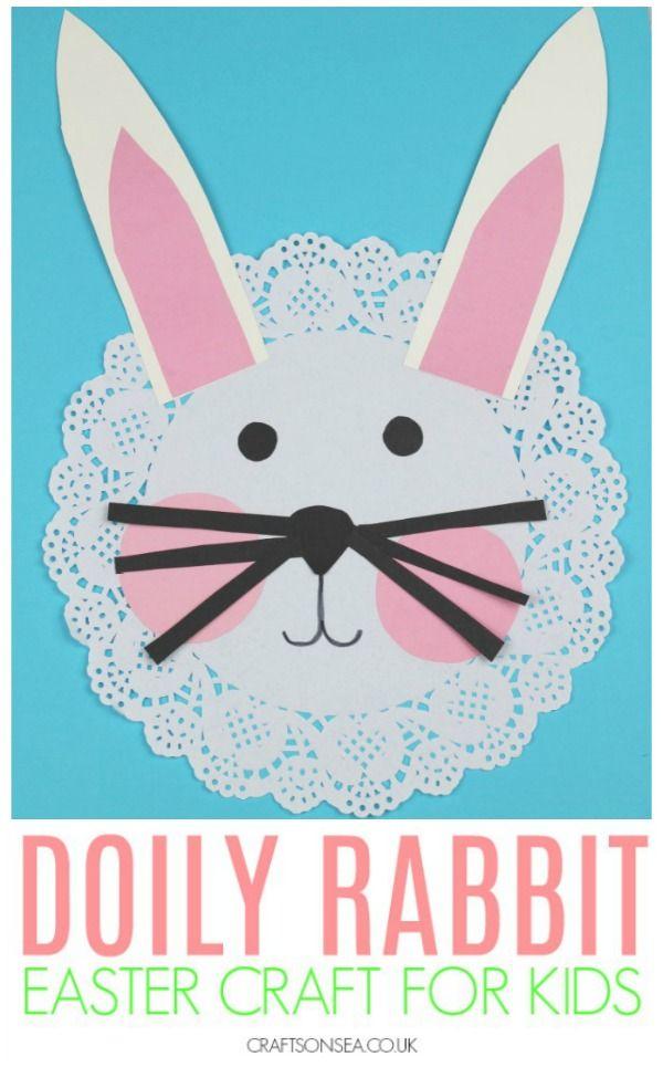 DIY Craft: Super cute rabbit craft for kids #kidscrafts #springcrafts #eastercrafts