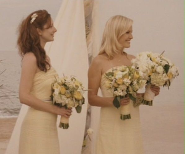 This is the bridesmaids dress the main character picked for her own wedding.