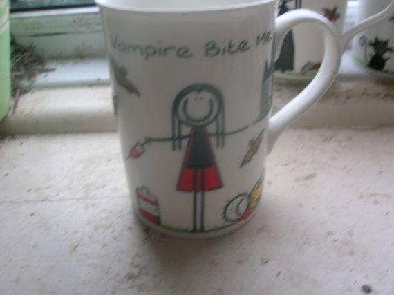 gothic horror hand painted mugs