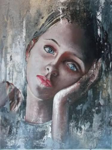 "Saatchi Art Artist Donatella Marraoni; Painting, ""Don't"" #art"