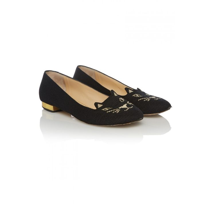 Charlotte Olympia Kitty Flats, EUR 39 £155 (Was £545) http://www.covetique.com/shoes/flats/charlotte-olympia-kitty-flats-12371.html