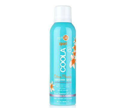 Skøn let transparent solspray, der ikke fedter og er let at fordele på huden.  Velegnet til både børn og voksne. Er også god til sart hud. Vandfast med bredspektret UVA/UVB beskyttelse.