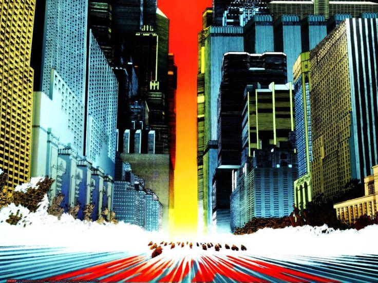 Katsuhiro Otomo. Akira Cityscape. #illustration #manga #anime