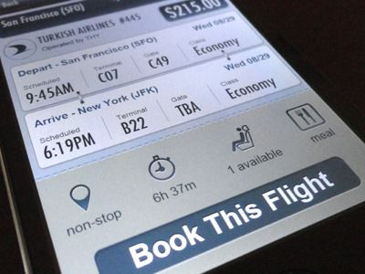 Flight info --  #ui