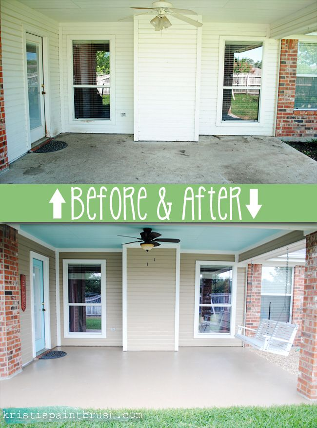 How to paint a porch floor: step by step process of cleaning, etching and painting for great results!