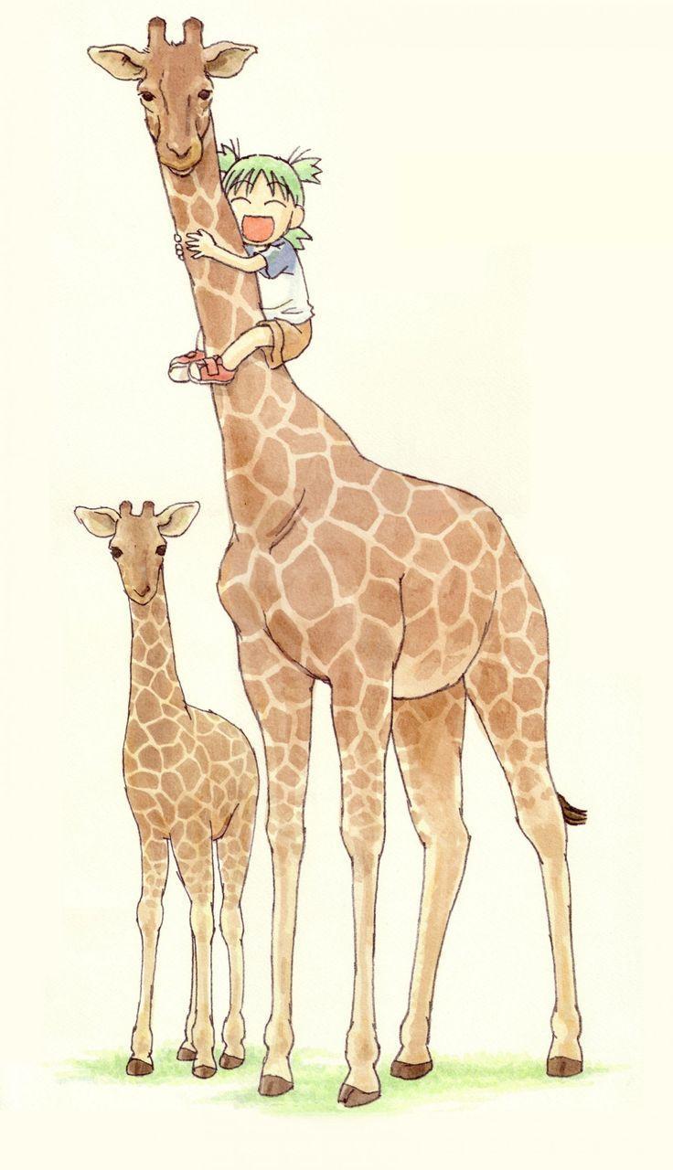 Yotsuba& - Yotsuba and giraffes
