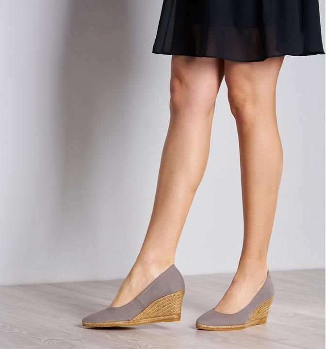 f93f630ddc3 Roses Canvas Wedges - Ash Grey in 2019 | Clothes | Womens ...