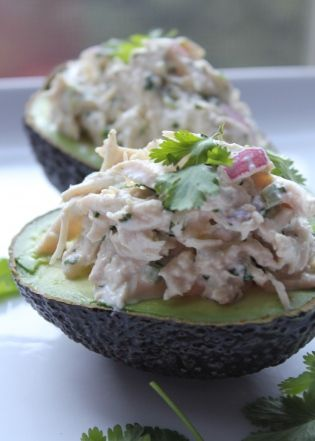 Cilantro-lime jalapeno chicken salad.
