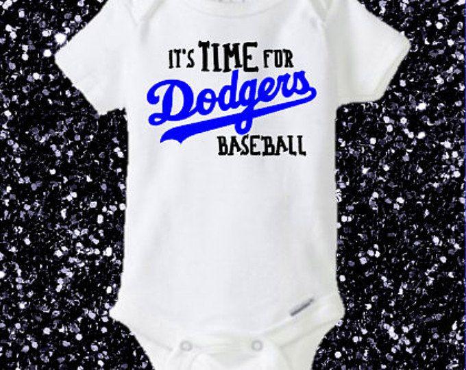 It's TIME for Dodgers Baseball, LA Dodgers bodysuit, Dodgers