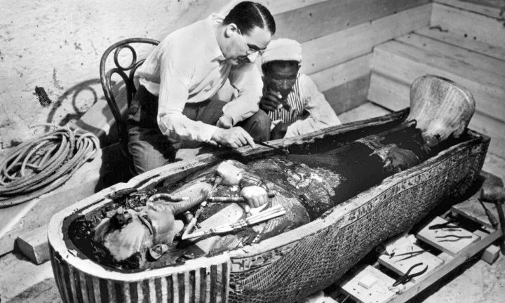"""This photo from the 1922 discovery was jaw-dropping. After hundreds of years of rumors and stories, Howard Carter and George Herbert lead a team into the """"Valley of Kings"""" to find the long forgotten tomb."""