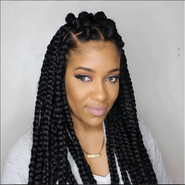 Crochet Box Braids With Rubber Bands : jumbo box braids box braids updo jumbo box braids box braids ...