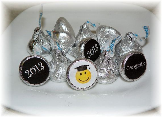 2013 Graduation Smiley Hershey kiss labels-fun for any graduation! Also fits Rolo candy or drink lids