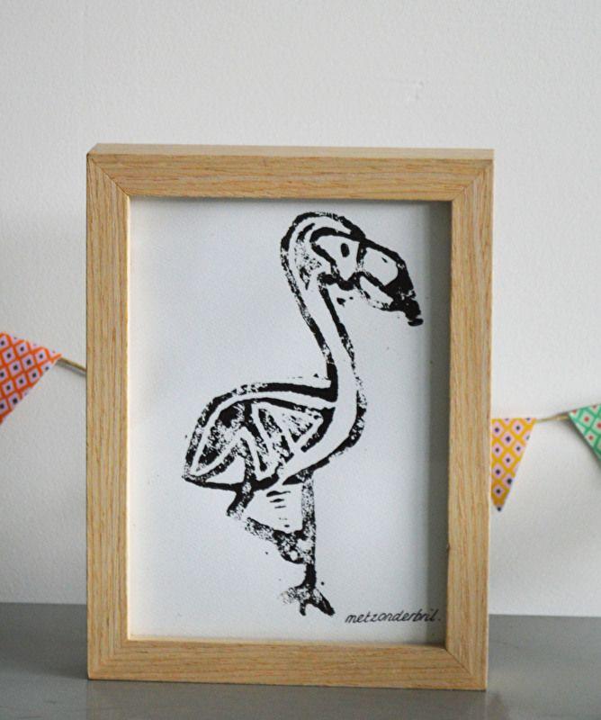 Afdruk Flamingo