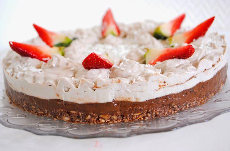 RAW Jahodovo-čokoládová torta