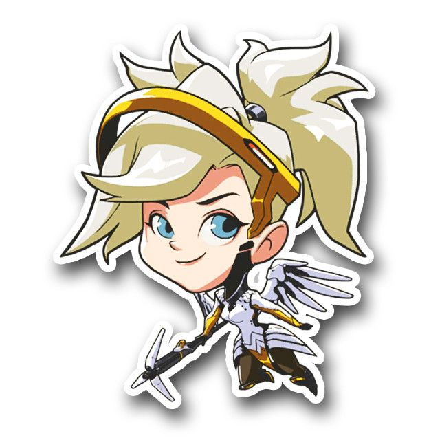 "Enjoy this 4.5"" tall Spray of your favorite Overwatch character, in sticker FORM!"