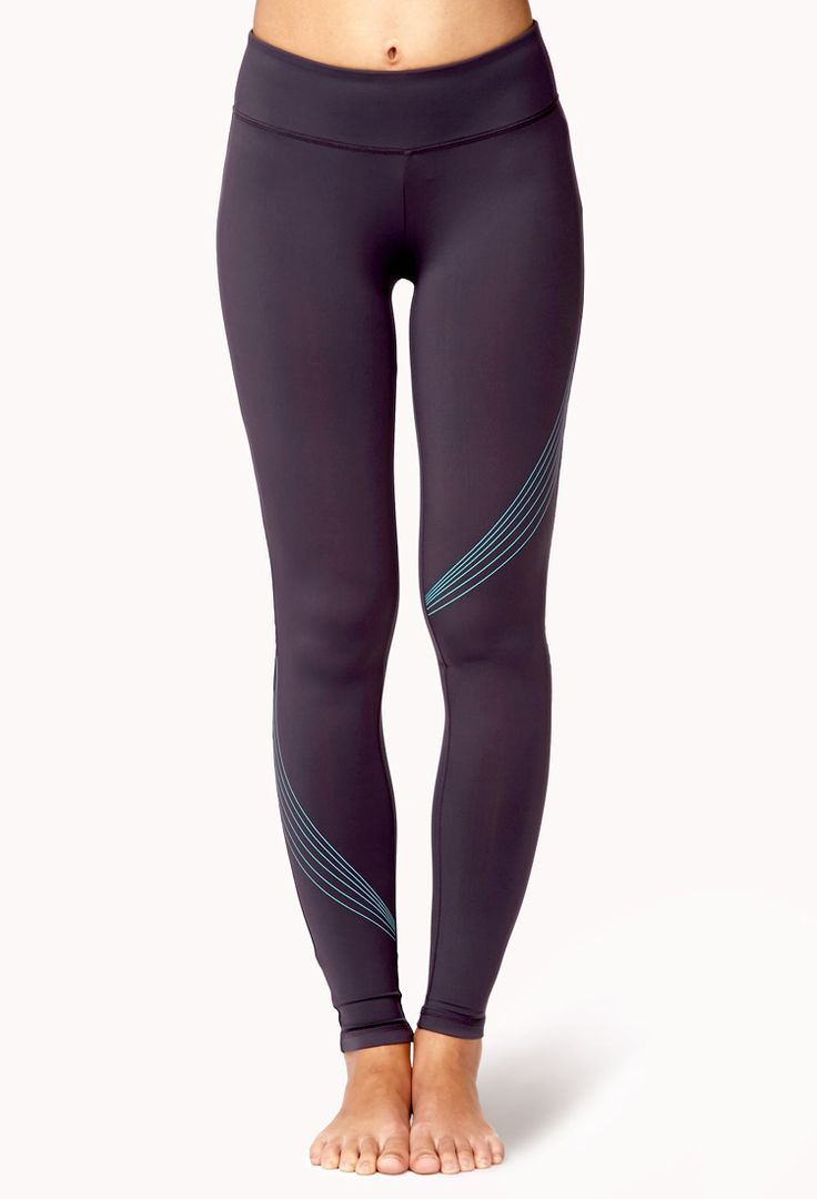 Reflective Skinny Workout Leggings | FOREVER21 Go for a run this weekend in these #Workout #Leggings #Exercise