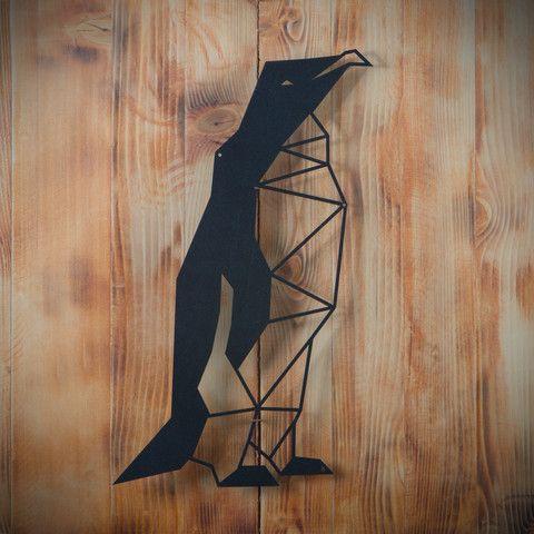 Metal Plaka - Penguin ev dekorasyonu,dekorasyon fikirleri,duvar dekorasyonu,iç dekorasyon,ofis dekorasyonu,metal dekoratif ürün,geometrik tasarım,geometrik hayvan figürleri,geometrik penguen,hediye,hediye fikirleri,hediyelik eşya www.hoagard.com