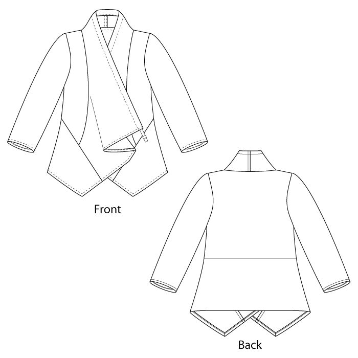 "In rayon/silk velvet similar to Sundance ""Je Ne Sais Quoi"" jacket.  Pearl Jacket tech, Sewing workshop pattern"
