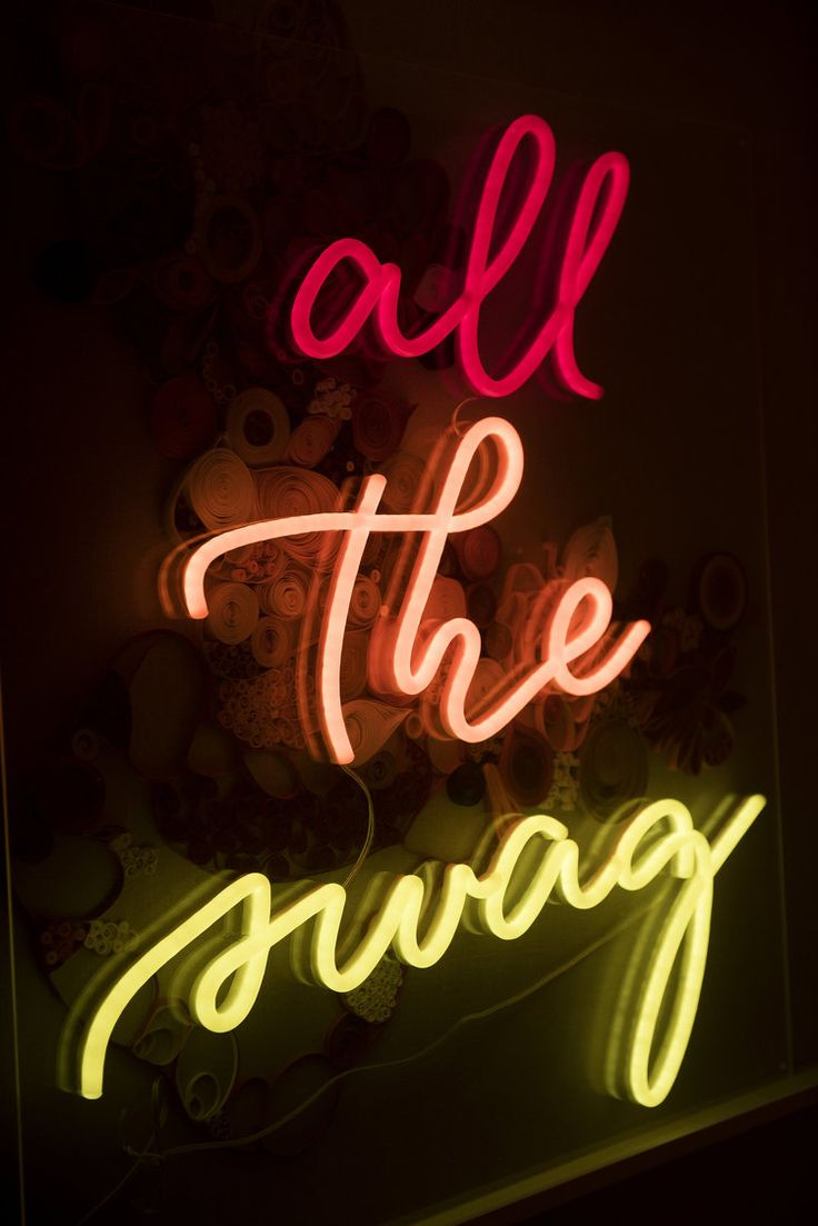 All the Swag in Neon! Photo by Janet Jarchow.
