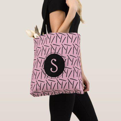 Crochet Hooks Initial Crafts Tote Bag - accessories accessory gift idea stylish unique custom