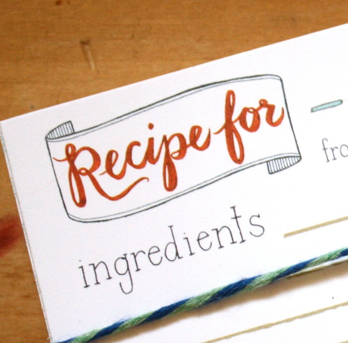 Send recipe cards with invites for a