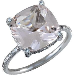 Vera Wang This Stunning Ring Features A Clear Morganite