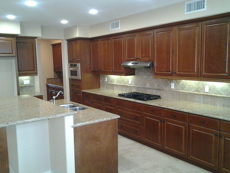 KraftMaid Kitchen w/ allen+roth Granite Counter, KitchenAid Appliances ...