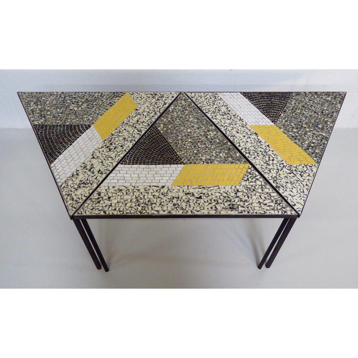Handcrafted Italian Mosaic Tile Tables - Set of 3 - Image 5 of 10