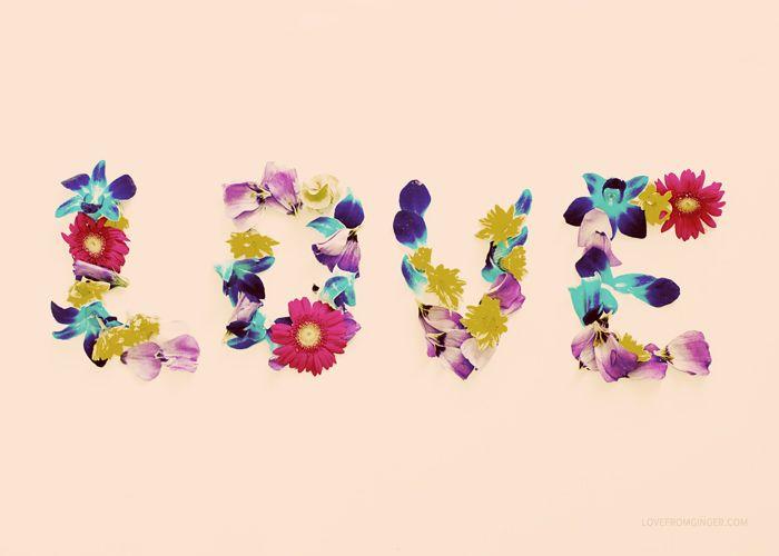 Floral Word DIY