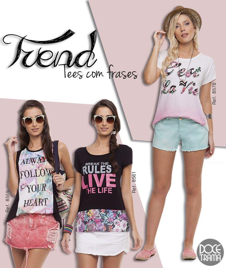 Como usar t-shirt com frases | Doce Trama  www.docetrama.com.br