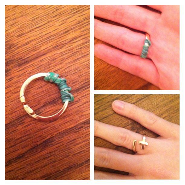 Use bread twist ties to fit big rings!