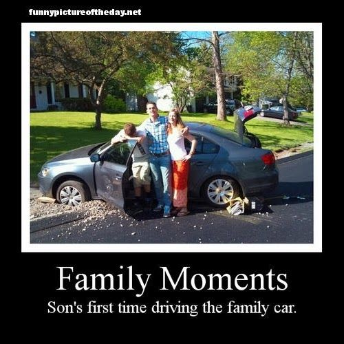 family moments sons first time driving the family car. Black Bedroom Furniture Sets. Home Design Ideas